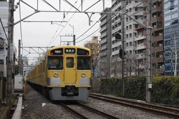 2010年2月16日、高田馬場~下落合、2501F+2013Fの1601レ。