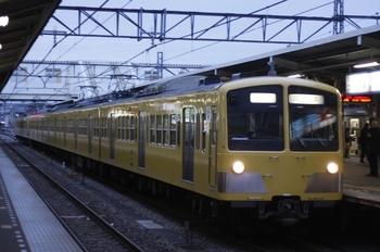 2010年3月4日 6時21分、所沢、1253F+295Fの新宿線 上り回送列車。
