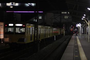 2010年4月6日 22時50分頃、所沢、6番線に停車中の1243F回送列車。