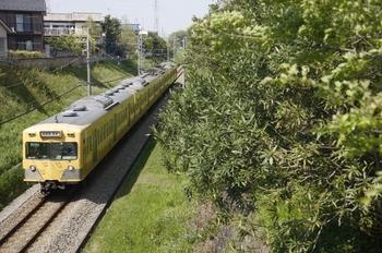 2010年5月3日、新小金井~多磨、1221Fの是政ゆき183レ。