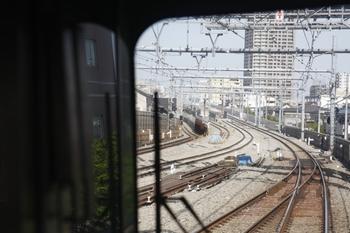 2010年5月9日、練馬高野台~石神井公園、上り列車最後尾から撮影。