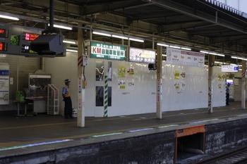 2010年8月20日、所沢、2番ホームから1番ホームを撮影。