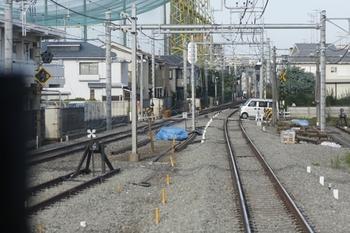 2010年8月29日、保谷駅の飯能方の端、下り列車の車内から。