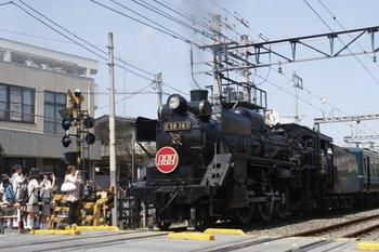 2010年8月31日、御花畑、三峰口ゆきのSL「999」号。
