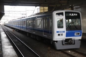 2010年9月7日 15時55分頃、所沢、4番ホームに停車中の6155Fの下り試運転列車。