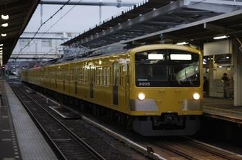 2010年10月28日 6時21分頃、所沢、3005Fの新宿線 上り回送。