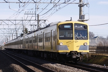2010年1月2日、小川~東大和市、281F+1301Fの3309レ。