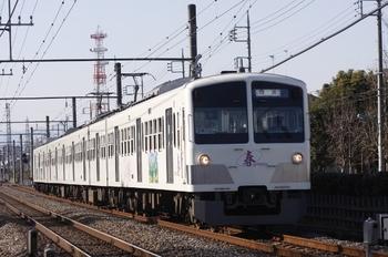 2011年1月8日 13時33分頃、小川~東大和市、1247Fの上り回送列車。