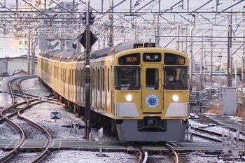 2011年2月12日、所沢、2110レの9107F。
