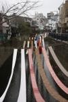 2011年2月20日、中井駅近くの神田川。