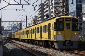 2011年3月9日、高田馬場~下落合、2451F+2001Fの2640レ。