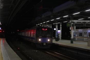 2011年3月11日 20時56分ころ、練馬、到着する20151Fの上り回送列車。