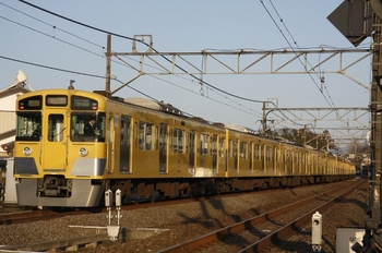 2011年3月14日6時37分ころ、元加治、発車した2097F+2455Fの各停 飯能ゆき。