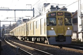2011年3月17日 6時42分頃、池袋~椎名町、2077Fの各停 飯能ゆき。