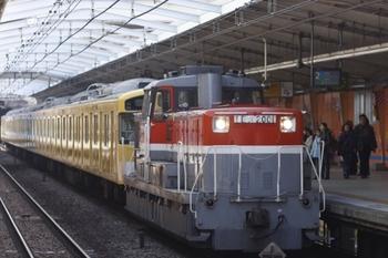 2011年3月26日 14時22分頃、石川町、DE11-2001+西武2091F。