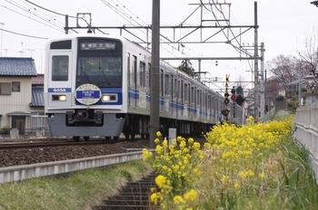 2011年4月4日 9時0分頃、元加治~飯能、6158Fの各停 新木場ゆき。