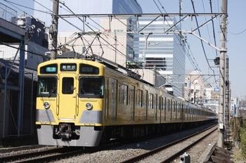 2011年4月5日、高田馬場~下落合、2455F+2057Fの4805レ。