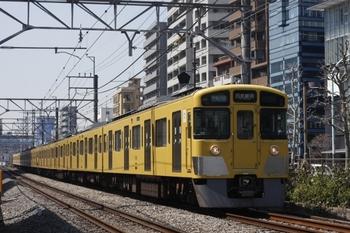 2011年4月6日、高田馬場~下落合、2529F+2033Fの拝島快速 3308レ。