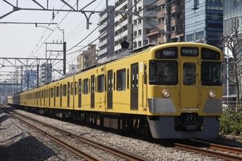 2011年4月6日、高田馬場~下落合、2535F+2011Fの快速急行 1606レ。