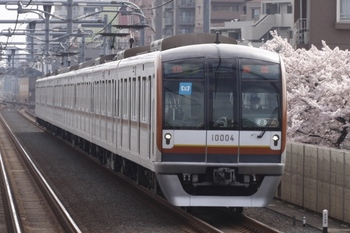 2011年4月10日 8時33分ころ、中村橋~富士見台、メトロ10004Fの4605レ?