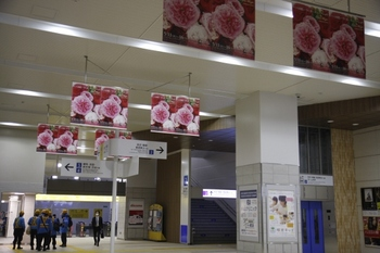2011年4月17日、石神井公園、改札階を飯能方から。