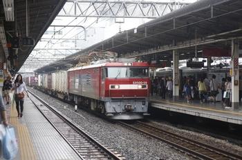 2011年6月11日 12時0分頃、池袋、EH500-59牽引コンテナ貨物列車(新宿方面ゆき)。