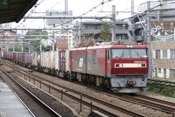 2011年6月25日 12時1分頃、高田馬場、EH500-59ほかの3086レ。