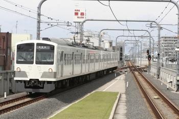 2011年6月24日 10時10分頃、武蔵境、3番ホームに到着する1259Fの上り列車。