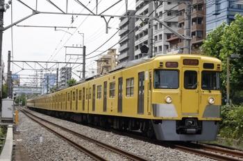 2011年7月26日、高田馬場~下落合、2021F+2541Fの急行 西武新宿ゆき(3308レのスジ)