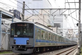 2011年8月1日、高田馬場~下落合、20103Fの急行 拝島ゆき(3309レ由来)。