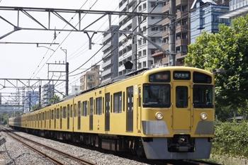 2011年8月18日、高田馬場~下落合、2537F+2021Fの3308由来の上り急行。