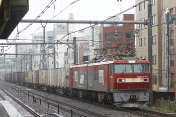 2011年10月22日 11時55分頃、駒込、EH500-57牽引の3086レ。