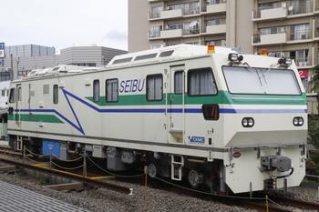2011年10月23日、東長崎、超音波レール探傷車。