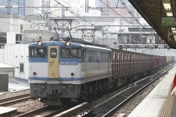2011年10月30日、高田馬場、EF65-1127牽引の2077レ。