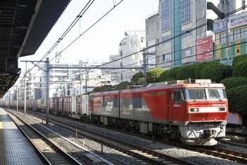 2011年10月29日、駒込、EH500-43牽引の3086レ。