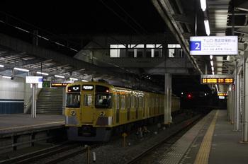 2011年11月10日、西所沢、1番ホームで発車を待つ2503Fの6101レ。