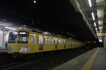 2011年11月12日、西所沢、発車した1241Fの6101レ。