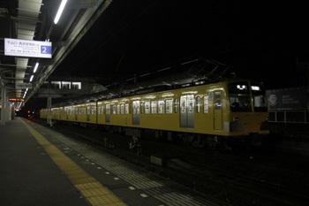 2011年11月19日、西所沢、1番ホームで発車を待つ281F+287Fの6101レ。
