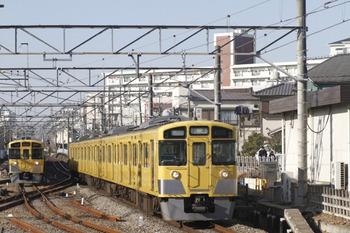 2012年1月9日 10時5分頃、田無、2539Fの上り回送列車。