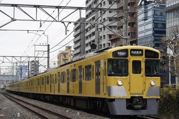 2012年1月16日、高田馬場~下落合、2511F+2053Fの1606レ。