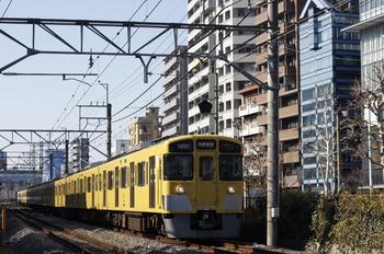 2012年1月17日、高田馬場~下落合、2535F+2527F+2405Fの1606レ。