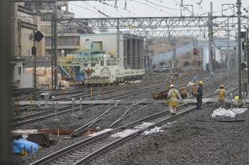 2012年1月21日、保谷、上り列車最後部から5番線方向を撮影。