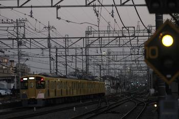 2012年2月4日 17時17分頃、西所沢、2503Fの上り回送列車。