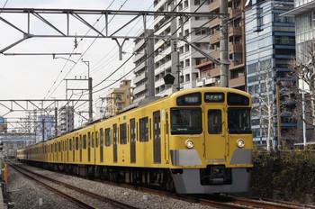 2012年2月13日、高田馬場~下落合、2053F+2505Fの1606レ。