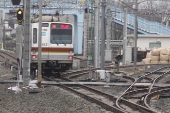 2012年3月11日、保谷、駅の北西の電留線群。