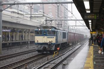 2012年3月17日、高田馬場、EF64-1041牽引の2077レ(?)。