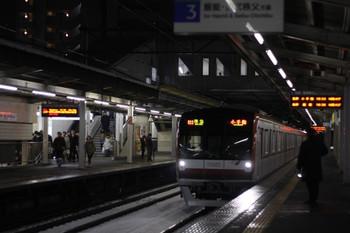 2012年2月29日、西所沢、メトロ10022Fの臨時準急 小手指ゆき(81S)。