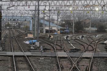 2012年3月24日、保谷駅、上り列車最後部から