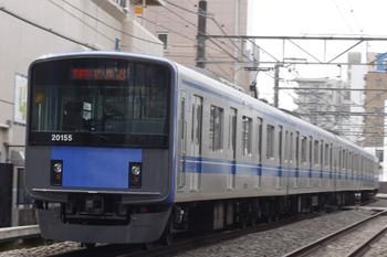 2012年3月30日 12時29分頃、高田馬場~下落合、20155Fの快速急行 新所沢ゆき。