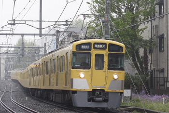 2012年4月23日、池袋~椎名町、2455F+2077Fの西武秩父ゆき4801レ。